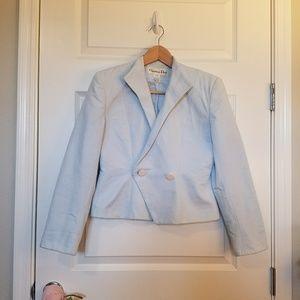 Rare VTG Christian Dior Blue Blazer